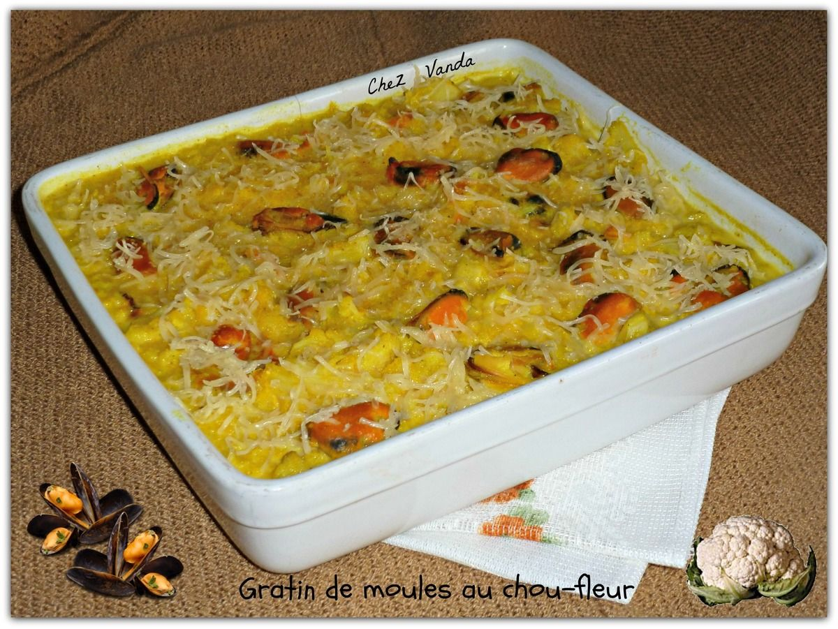 Gratin De Moules Au Chou Fleur Ww In French Pinterest Gratin