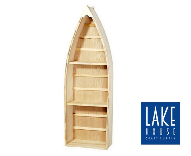 24 Bare Wood Boat Unfinished Wood Nautical Boat Shelf 24