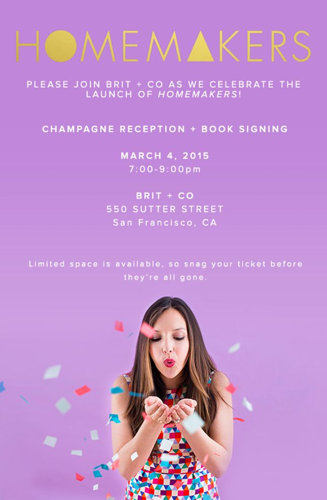 Join the #Homemakers launch party in San Francisco on March 4th!