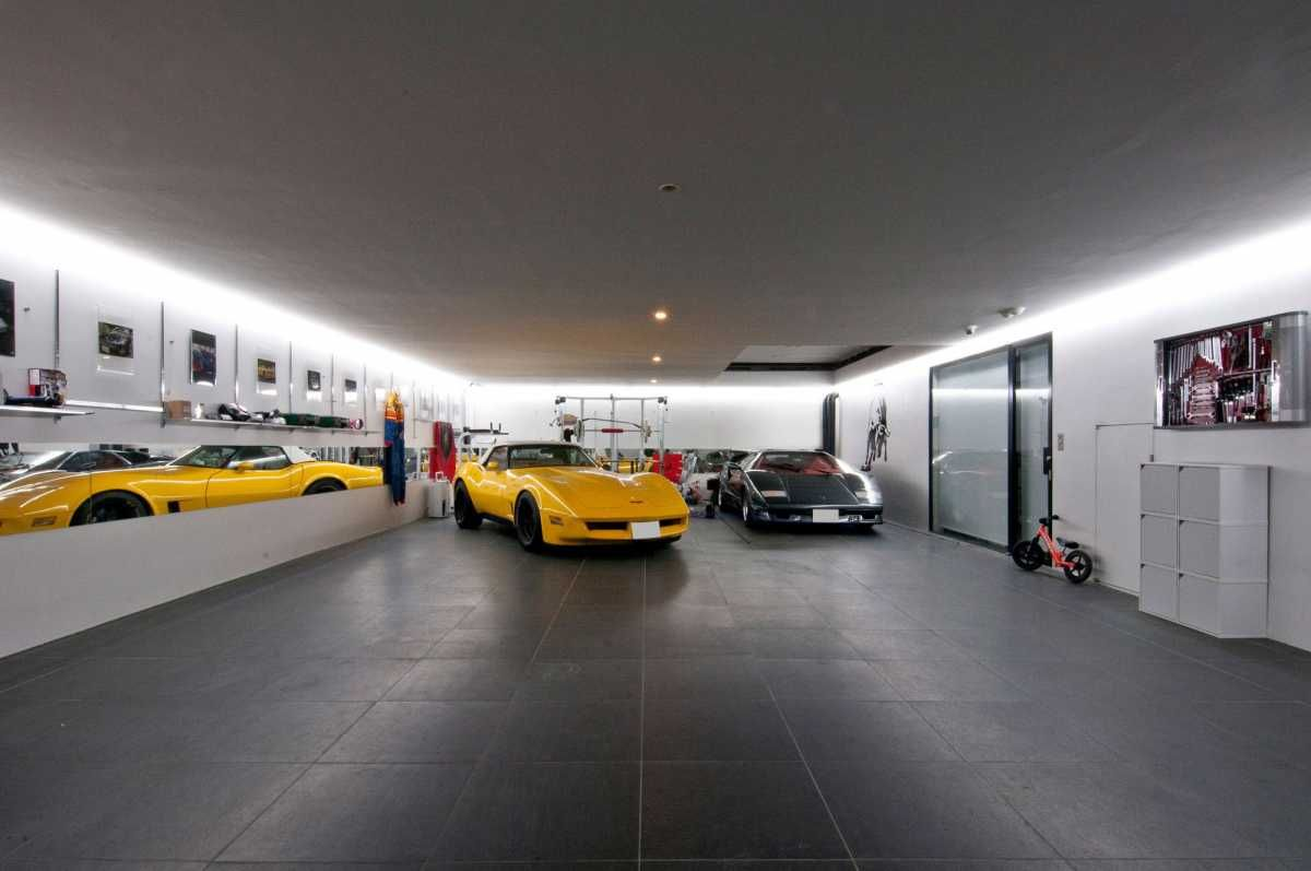 Wonderful 3 Car Garage Interior Designs Concept Illuminazione
