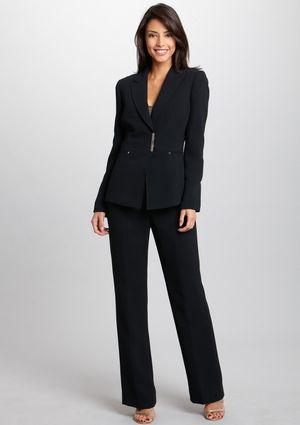 97c63e507 TAHARI ARTHUR S. LEVINE Wide Leg Pant Suit