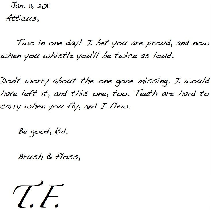 Tooth fairy letters for children tooth fairy teeth and for Fairy letters