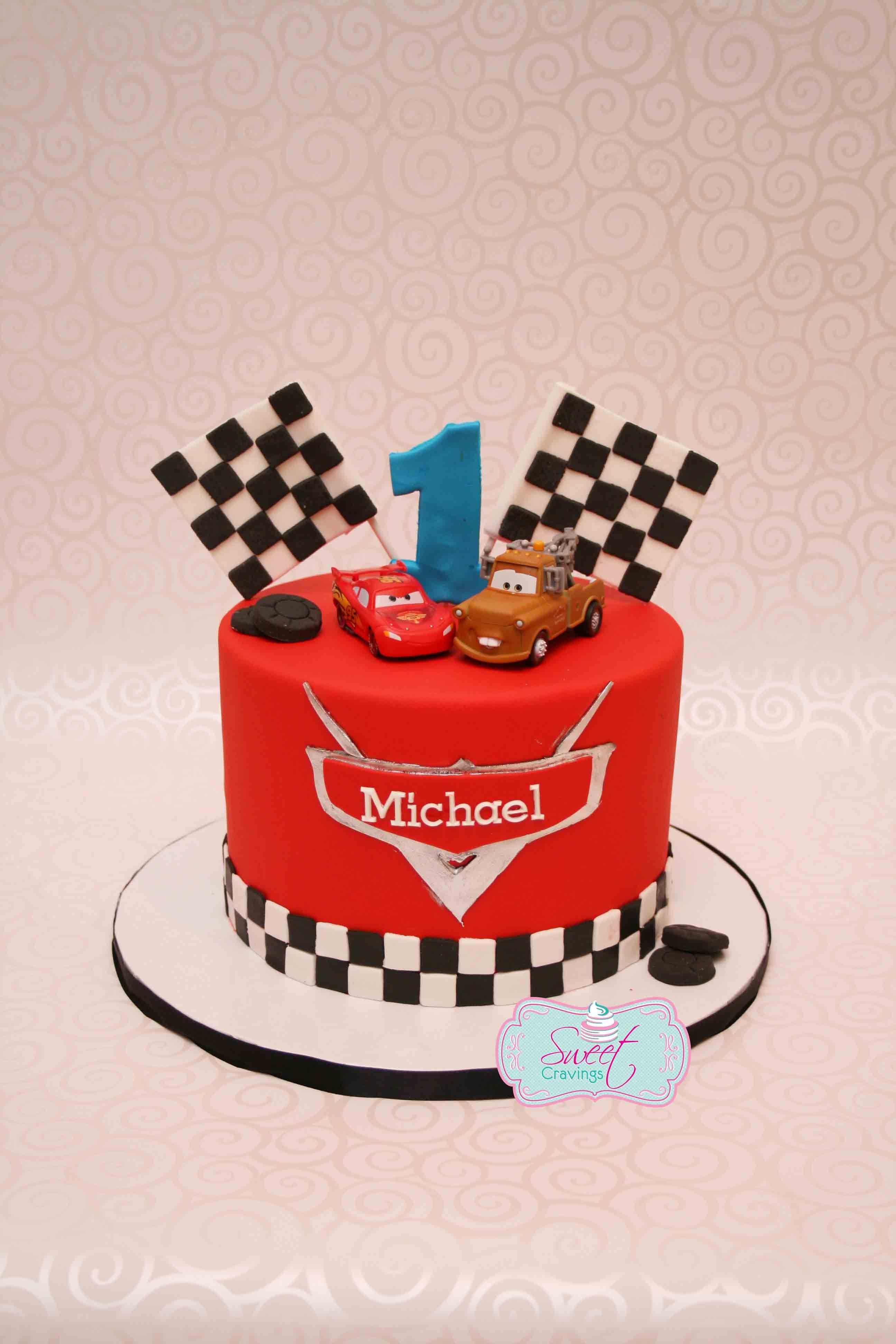 Cars themed first birthday cake. Disney cars Cars