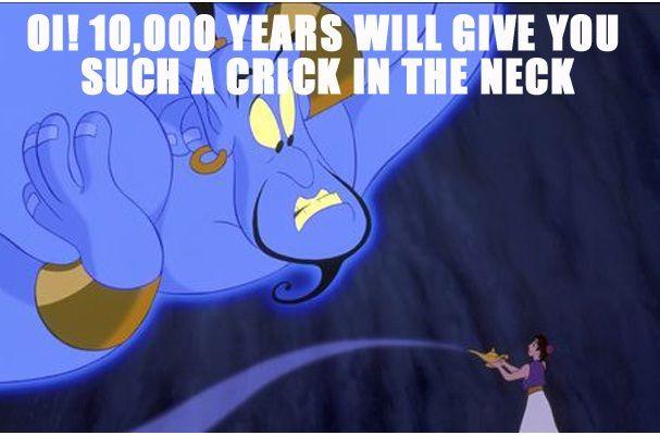 stiff neck funny quotes from genie in aladdin funny