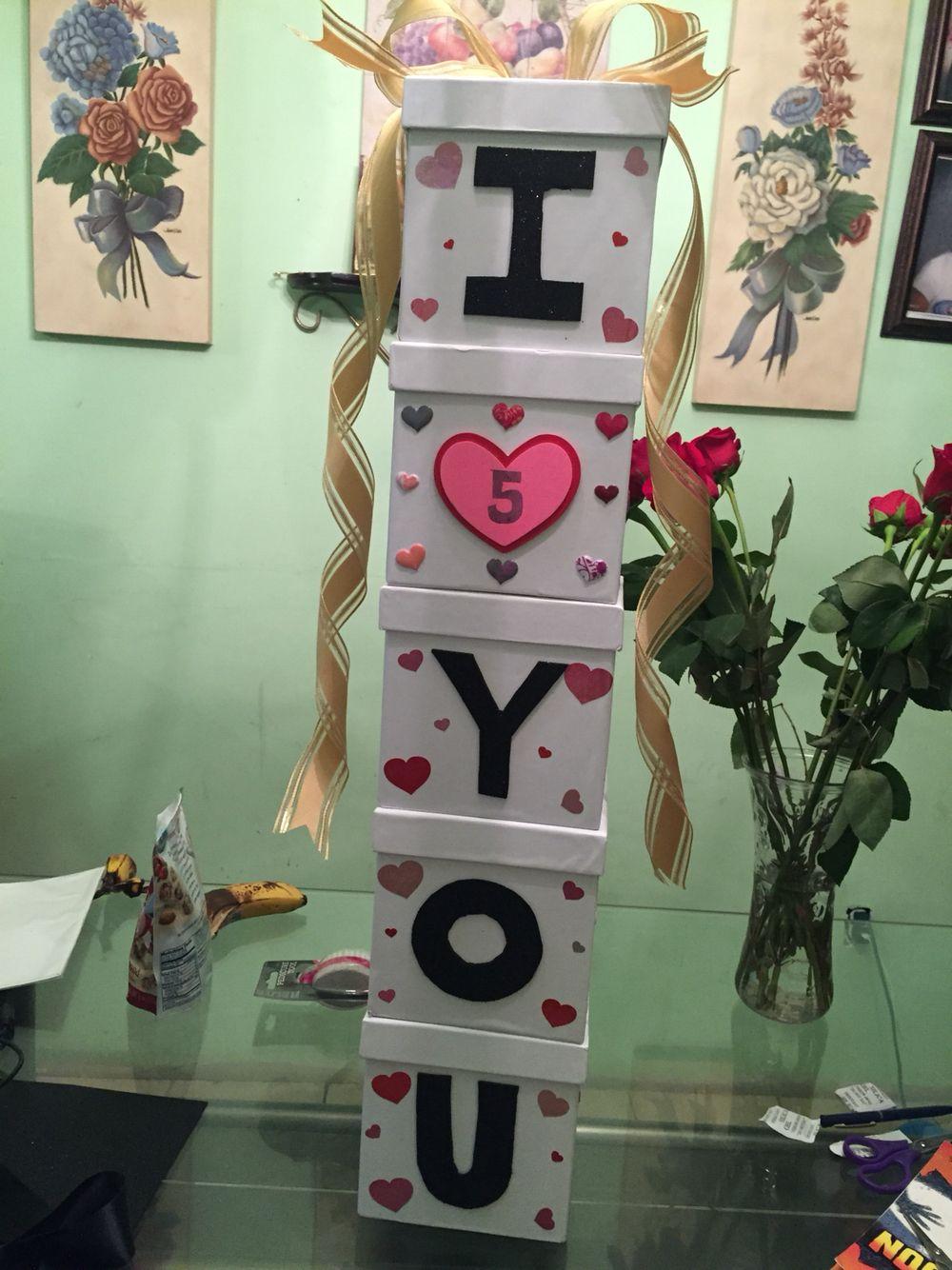 5 Year Anniversary Present For Boyfriend Presents For Boyfriend Anniversary 5 Year Anniversary Gift Diy Anniversary Gift