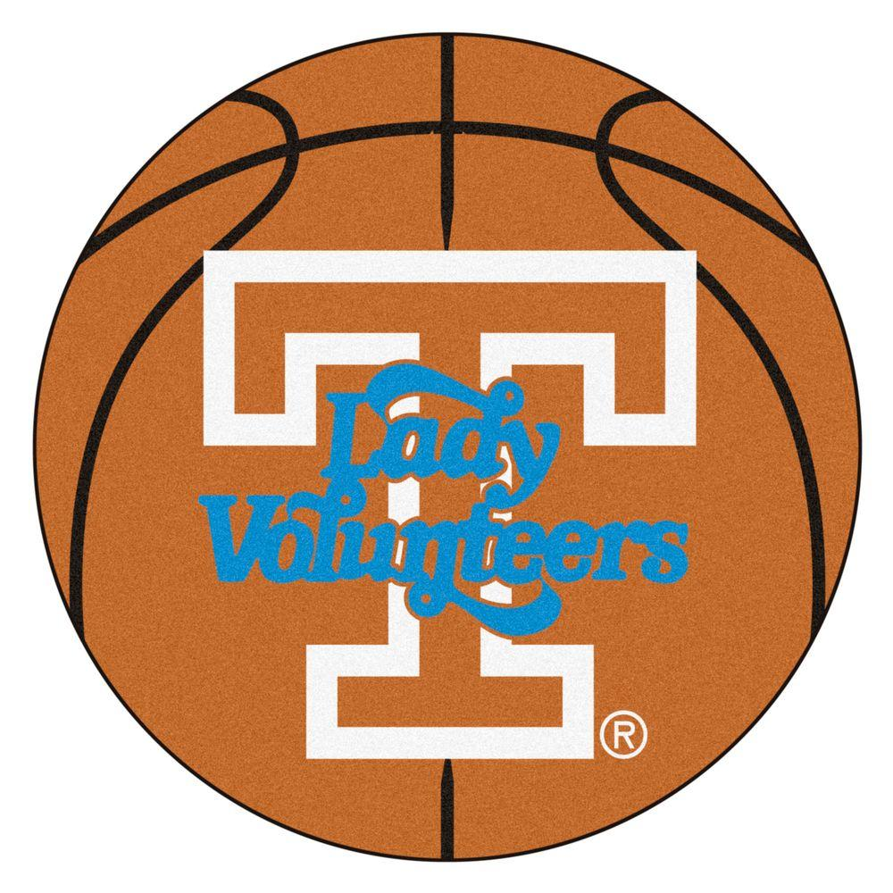 Fanmats Ncaa University Of Tennessee Lady Vols Logo Orange 2 Ft X 2 Ft Round Area Rug 8293 The Home Depot University Of Tennessee Basketball University Of Tennessee Lady Vols Basketball