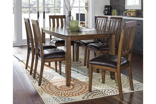 Puluxy Dining Room Table And Chairs Set Of 7 By Ashley Homestore Brown Dining Room Sets Pub Table And Chairs Pub Table Sets