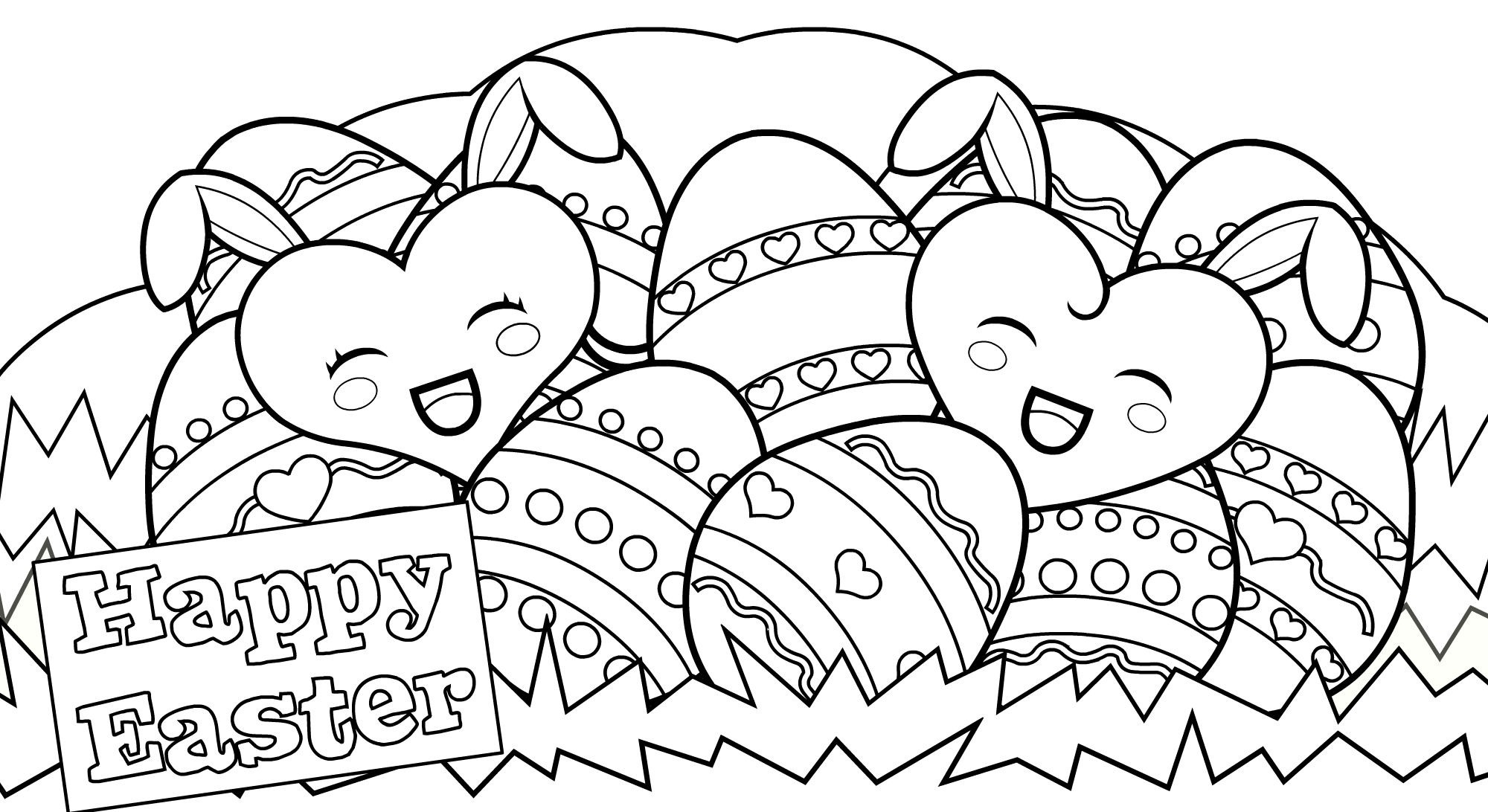 Happy Easter Coloring Pages Easter Coloring Pages Printable Easter Coloring Book Bunny Coloring Pages