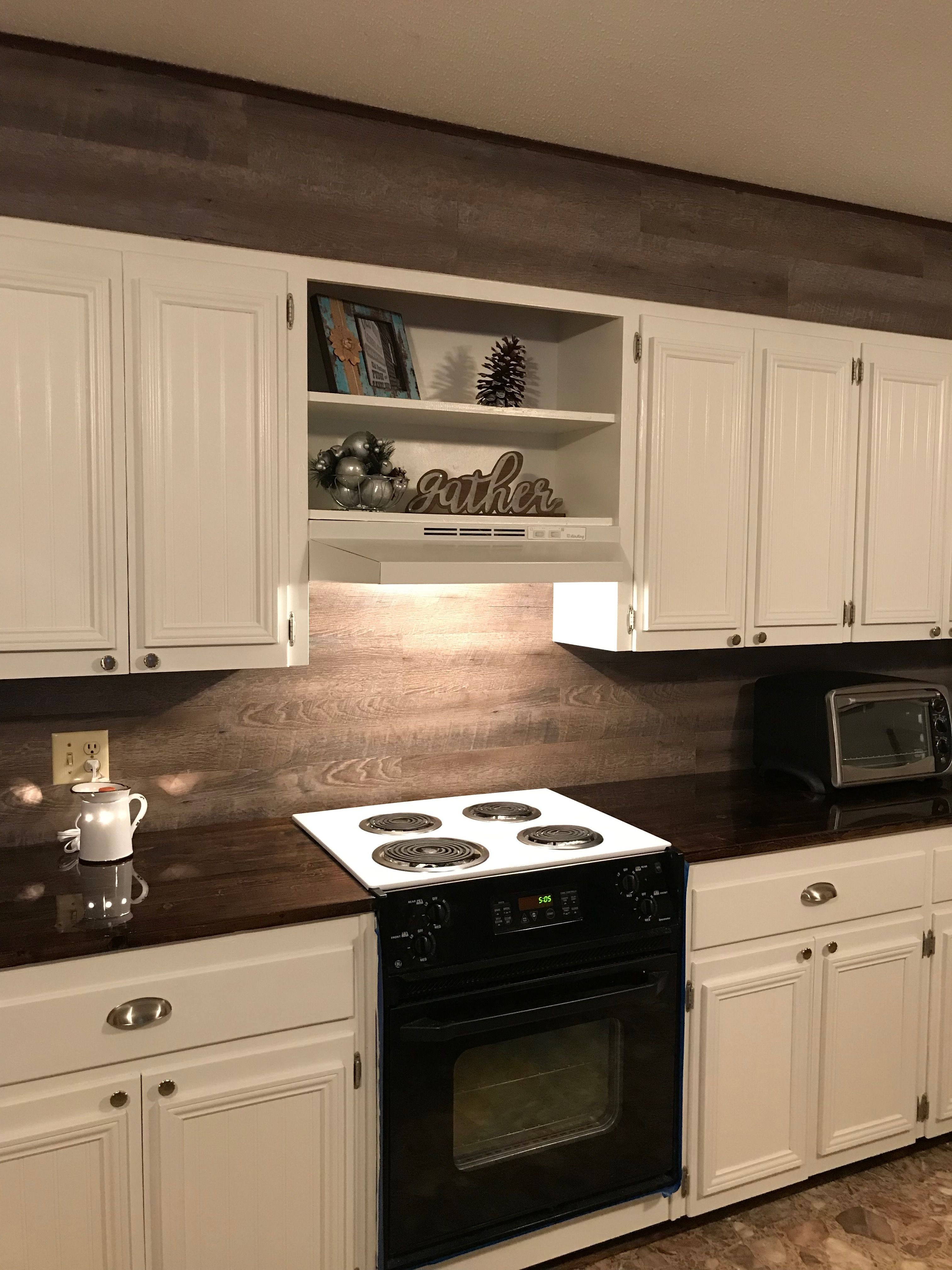 Farmhouse kitchen makeover at Asbury Cottage 2 in Pigeon