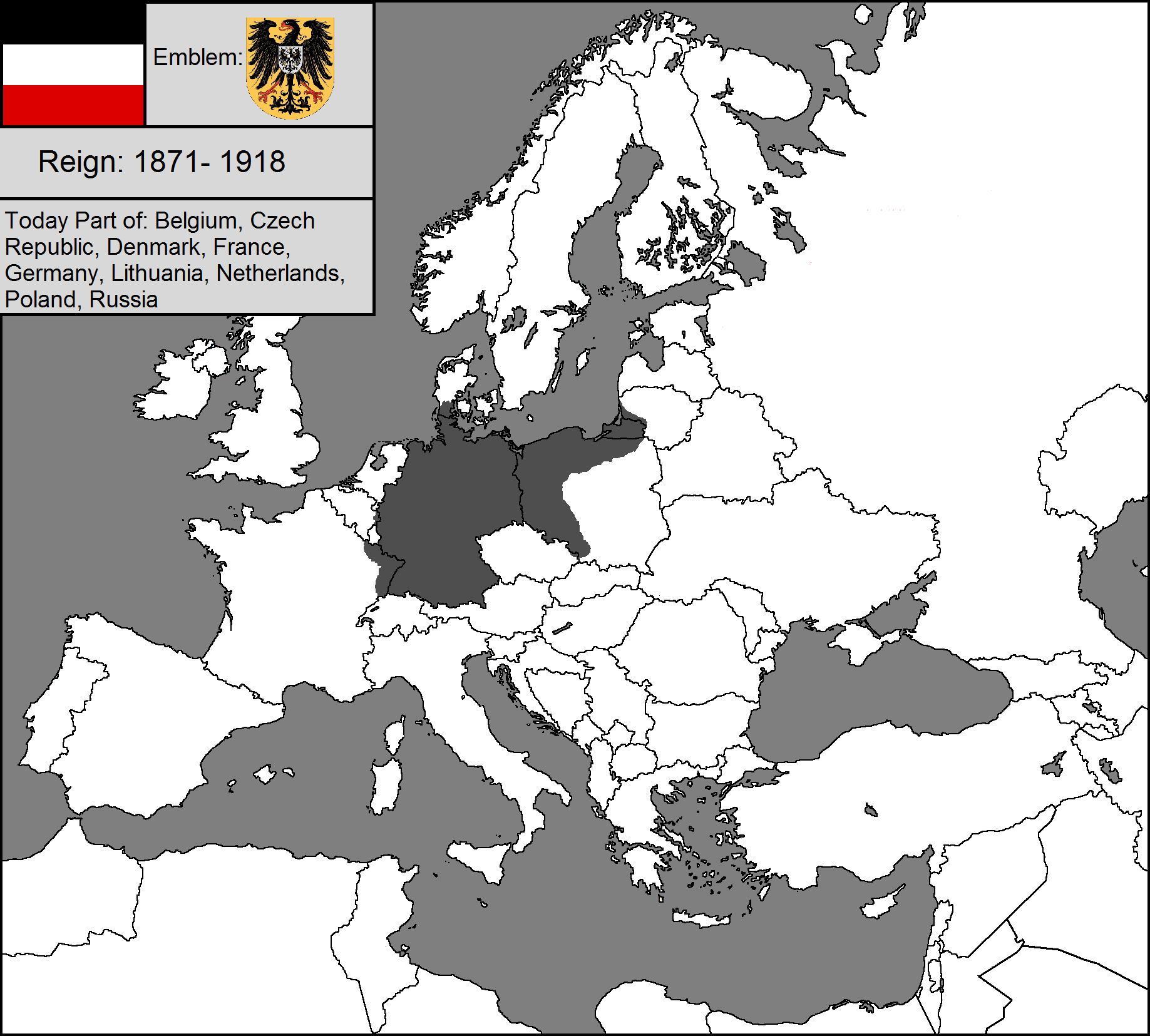 Map Of Germany In 1918.Germany Empire Map Alternate History Map Empire History