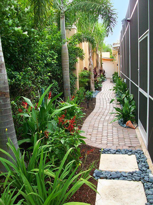 Landscaped Pathway Small Garden Landscape Design Landscape