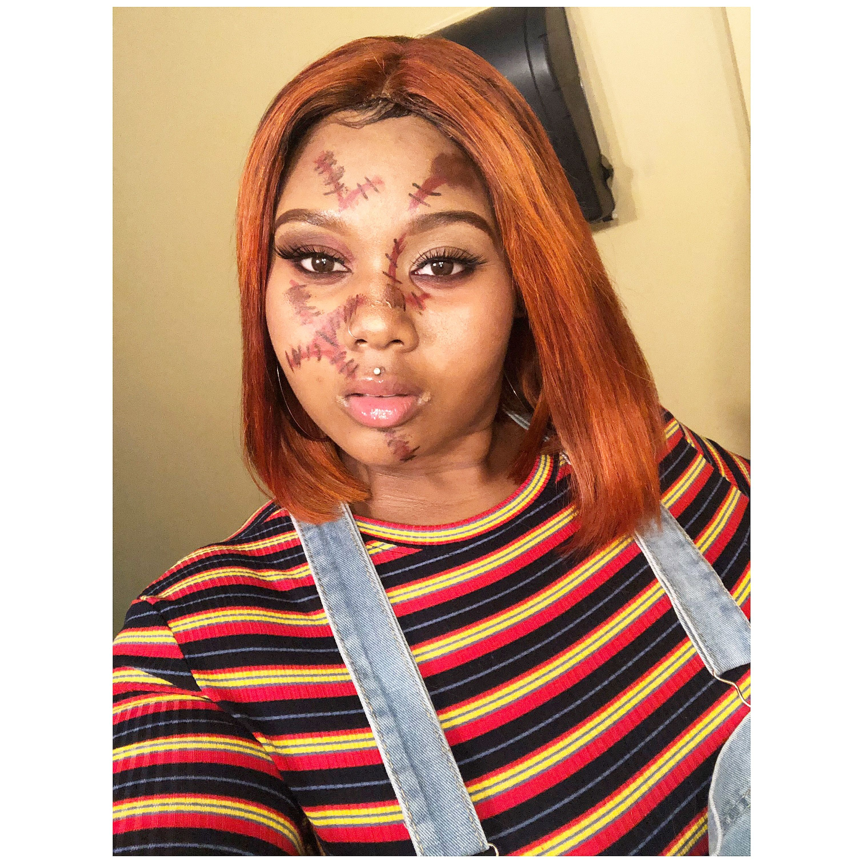 Halloween Make-Up Female Chucky #halloweenmakeup # ...