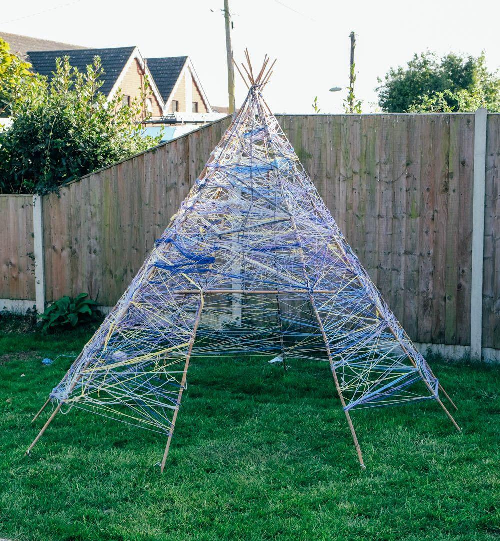 How to make a Yarn Teepee (Tipi) | Outdoor classroom, Tipi ...