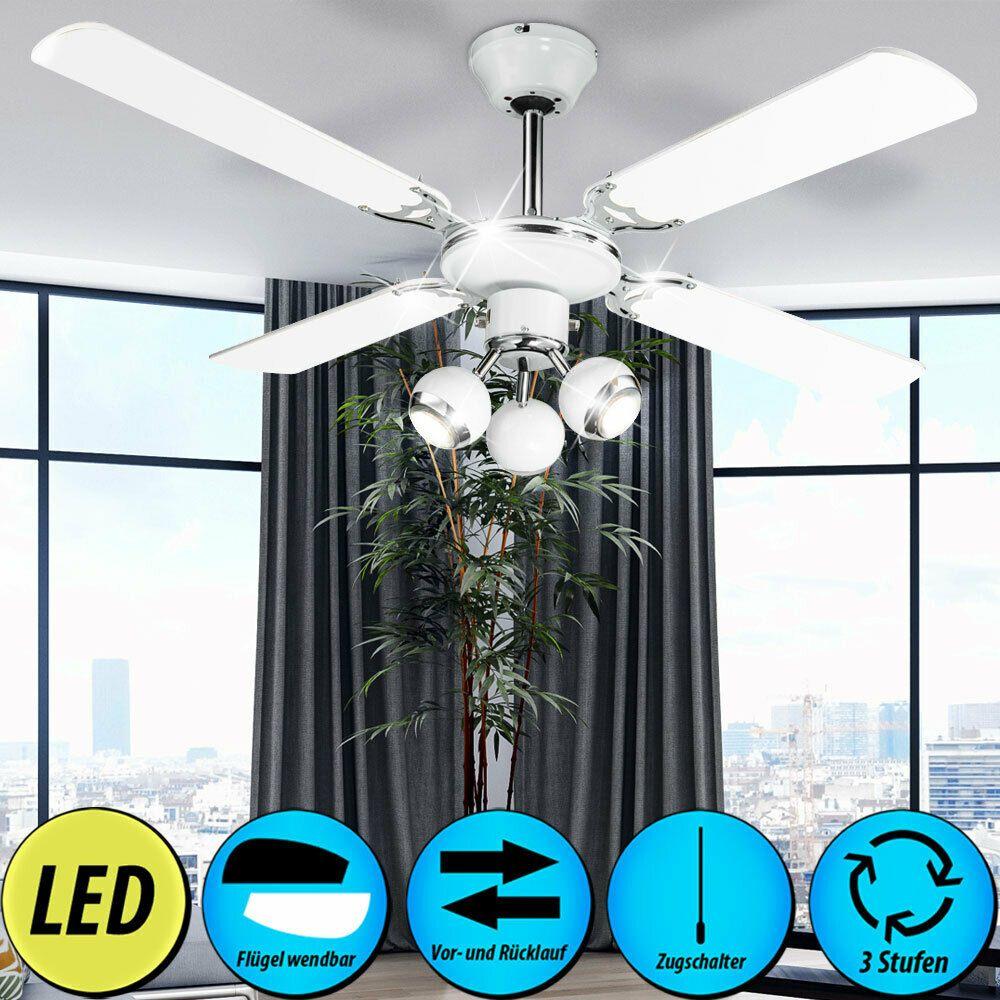 DEL Ventilateur Plafond Lampe RGB Télécommande Variateur Salon Plus Chaud Refroidisseur