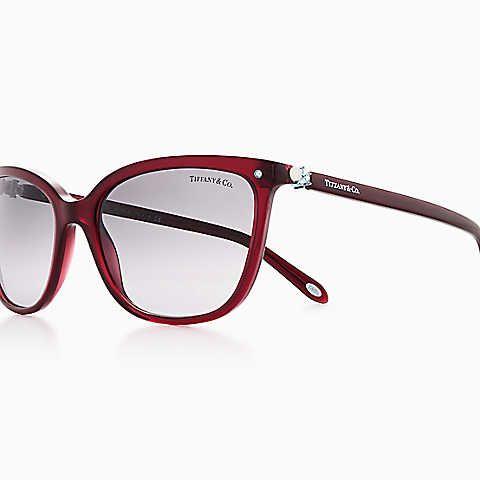 36b87f26edb4 Tiffany Aria concerto square sunglasses in wine acetate.