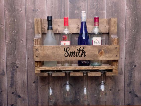 Personnalise Sur Mesure Palette Rustique Wine Rack Vin Palette Casiers A Bouteilles Palette Etageres A Bouteilles De Vin