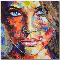 Original Gemälde Leinwand Acryl Modern Gesicht Abstrakt Bild 852