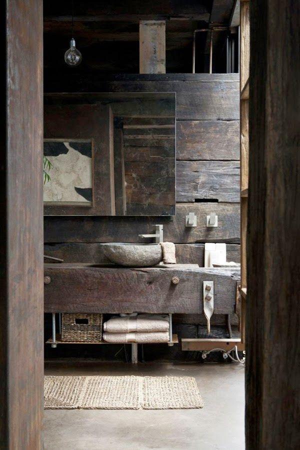 30 ideas de decoración para baños rústicos pequeños Wabi sabi