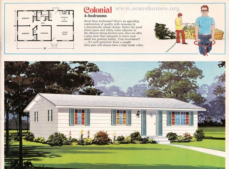 Jim Walter Homes A Peek Inside The 1971 Catalog Sears Modern Homes Ranch House Floor Plans Vintage House Plans Bungalow Floor Plans
