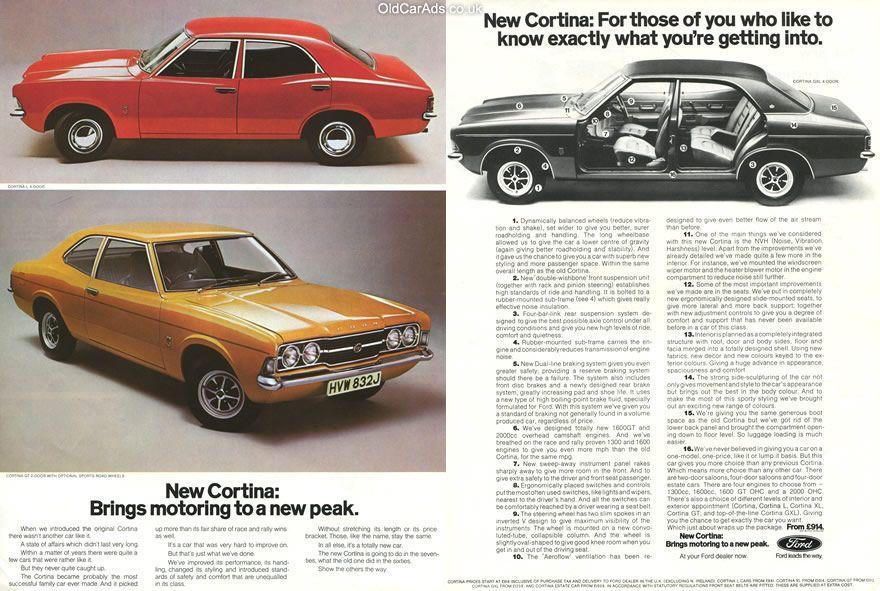 1970 Ford Cortina Brings Motoring To A New Peak Original Ad