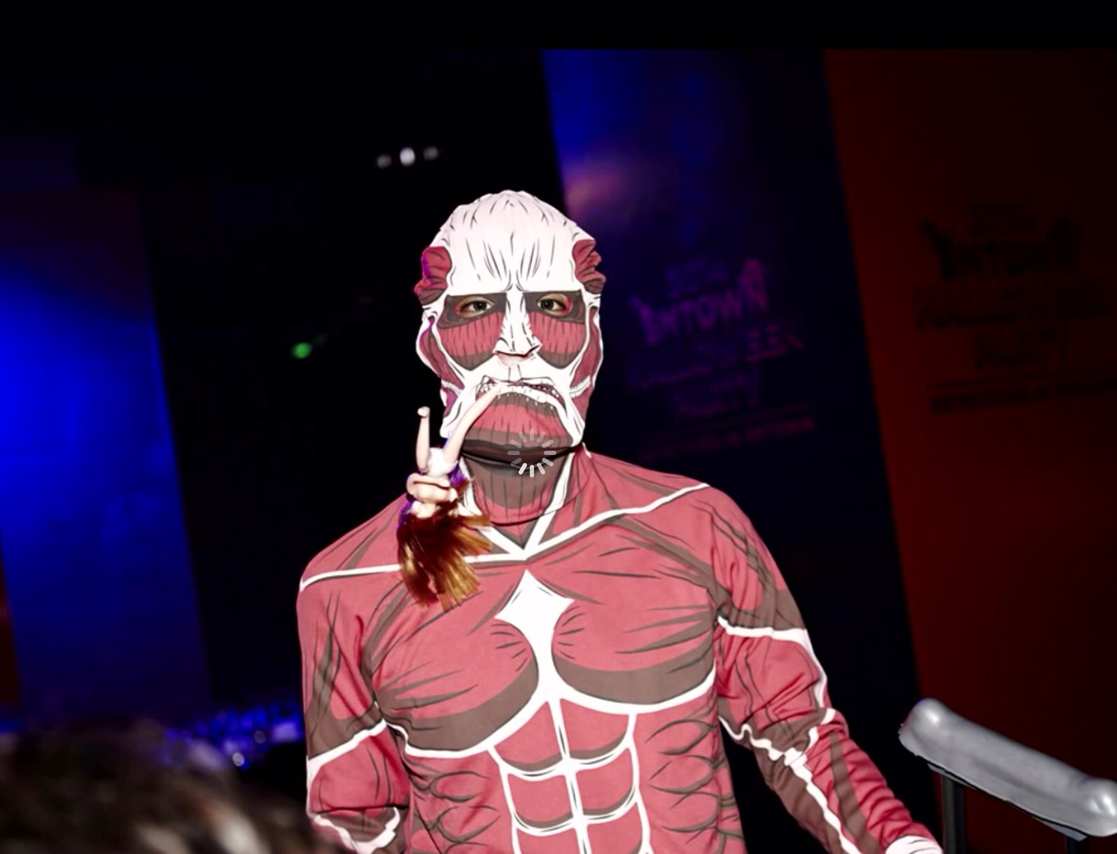 Jonghyun dressed as Colossal Titan from attack on Titan | SM ...