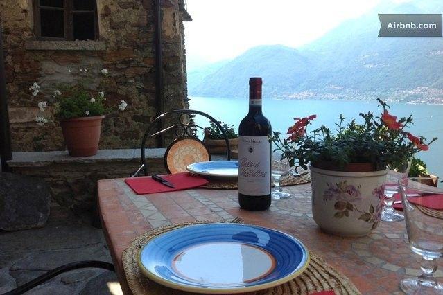 terrace lake view -  Stone house -Bellano fraz.Verginate · Strada alta nuova per Oro Bellano frazione Verginate casa, Bellano, Lombardia 23822, Itália