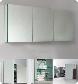 60 Fresca Fmc8019 Wide Bathroom Medicine Cabinet W Mirrors Long Mirror For Length Of Hugh S 499