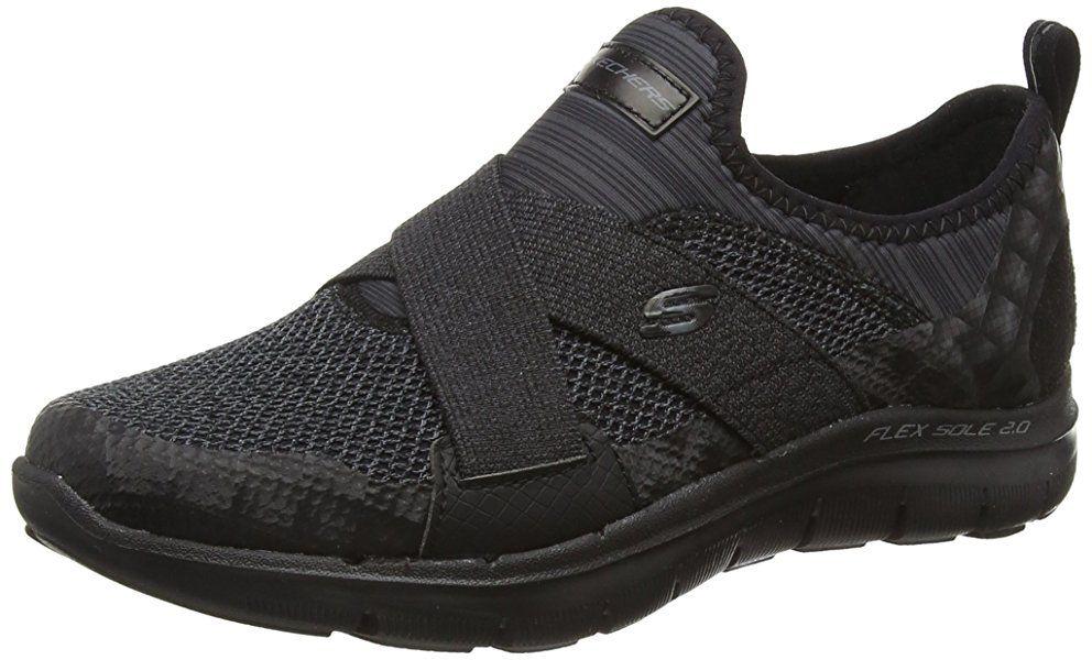 Flex Appeal 2.0 Break Free, Zapatillas de Deporte para Mujer, 36 EU, Negro (Bbk) Skechers