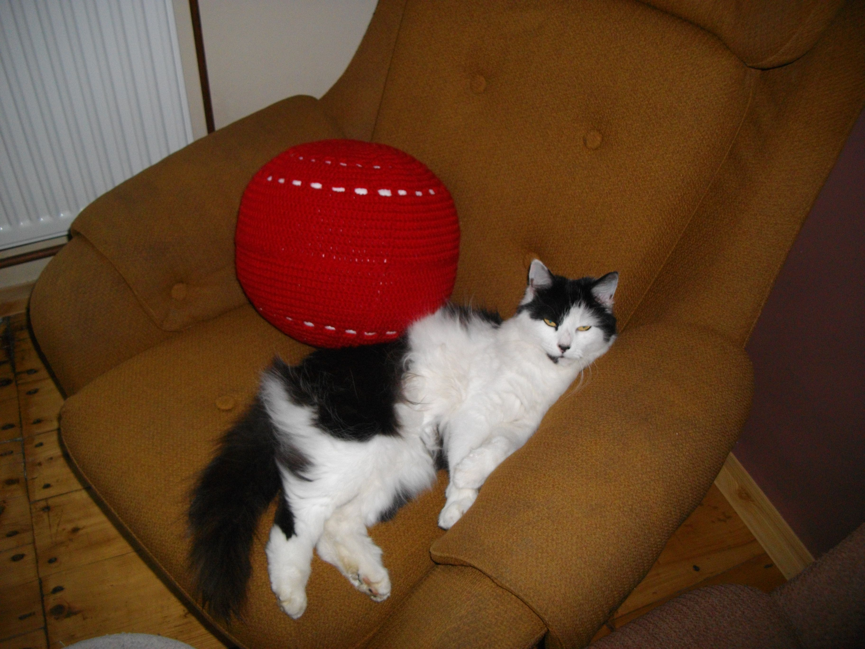 Háčkovaná koule - polštář