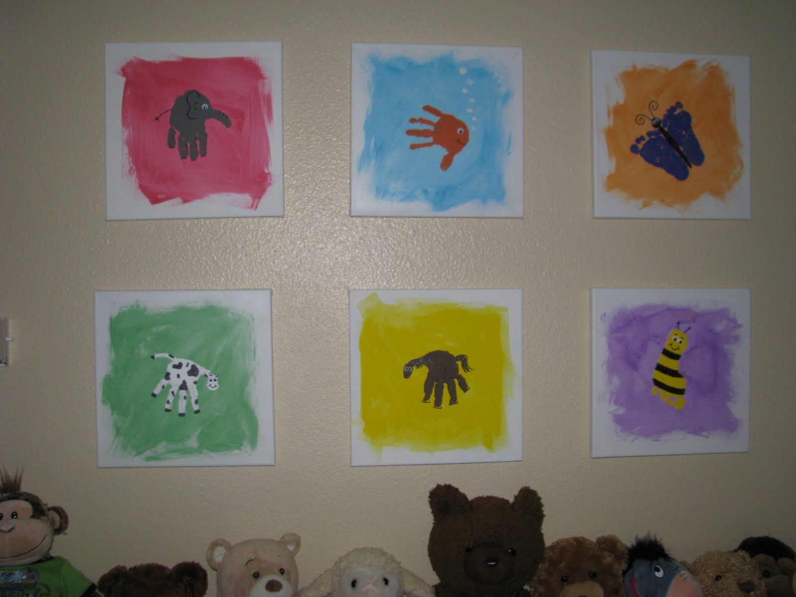 Arts And Crafts Ideas For Christmas Gifts Part - 39: Cute Art Made With Hand And Foot Prints!! Great For Christmas Gift For  Grandparents