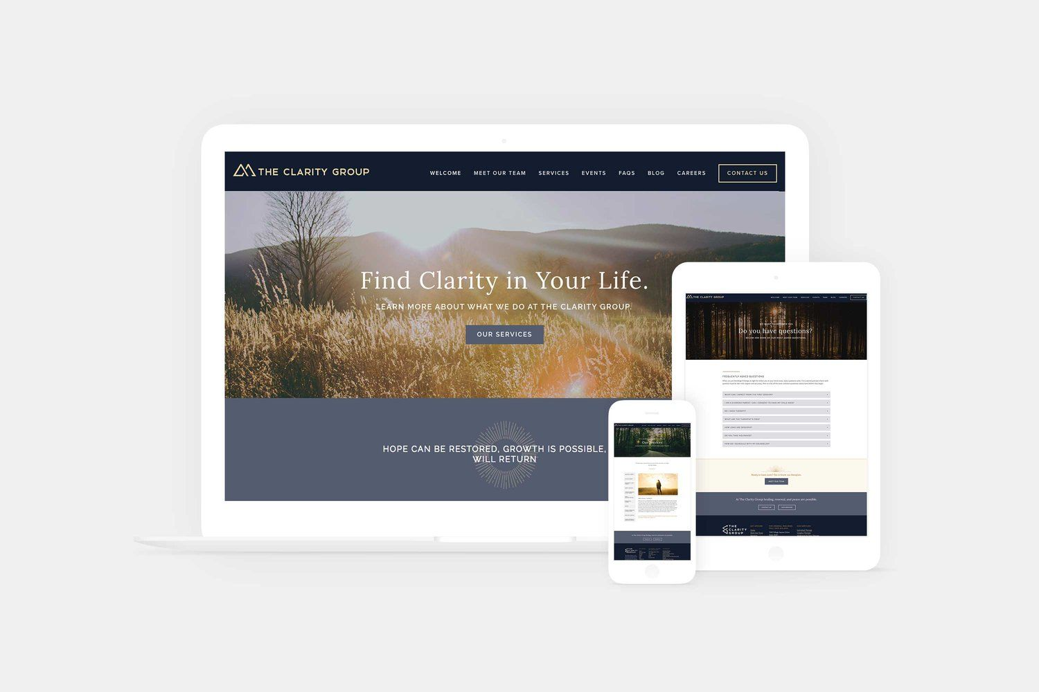 Website And Branding For A Counseling Center In Denver Colorado Custom Website Design Company Branding Branding