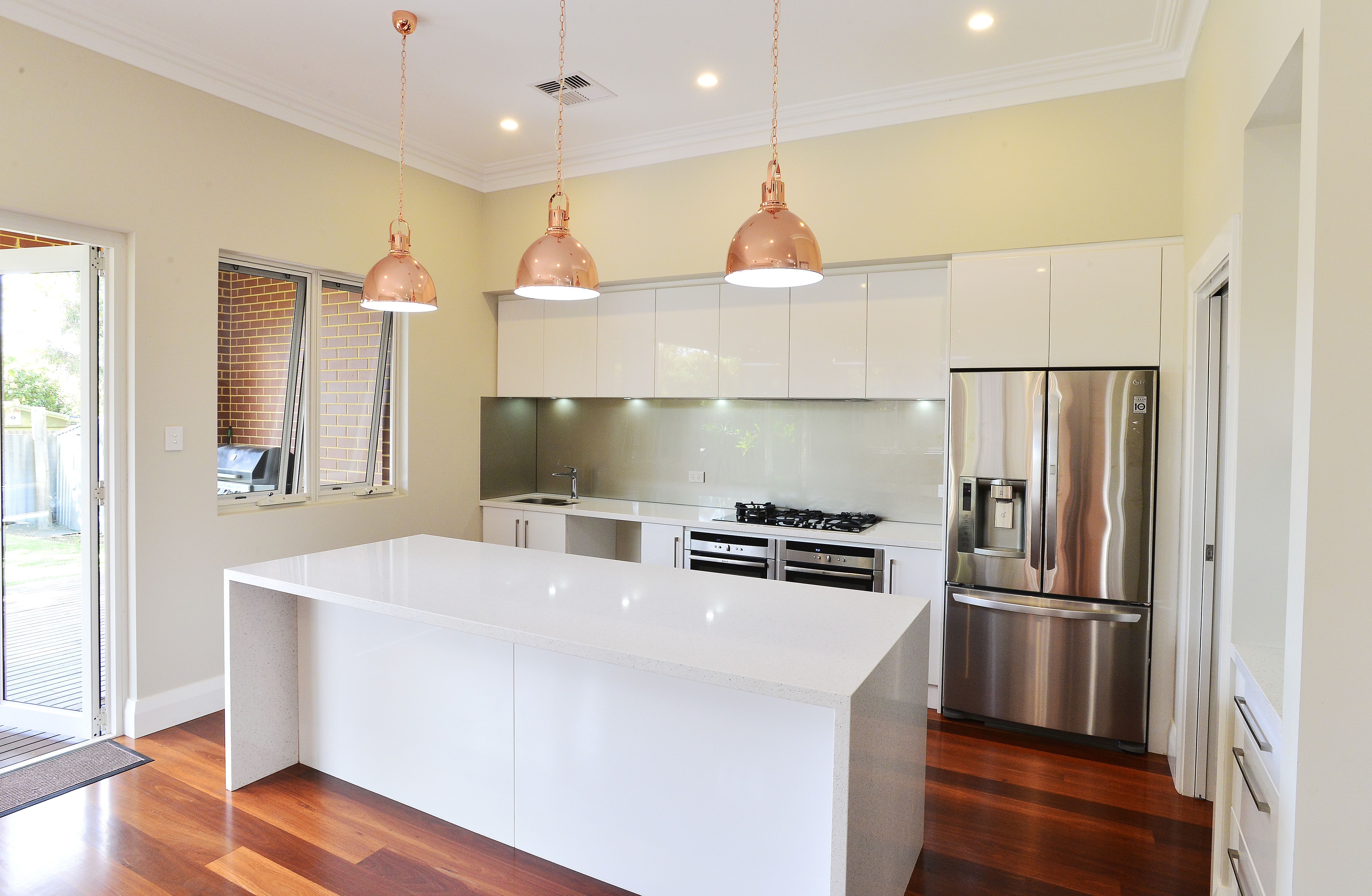 Stunning new kitchen in classic white, with stainless steel ...