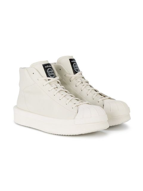 e62151db985a Adidas By Rick Owens Nude Mastodon Pro Model II High-top Sneakers - Farfetch