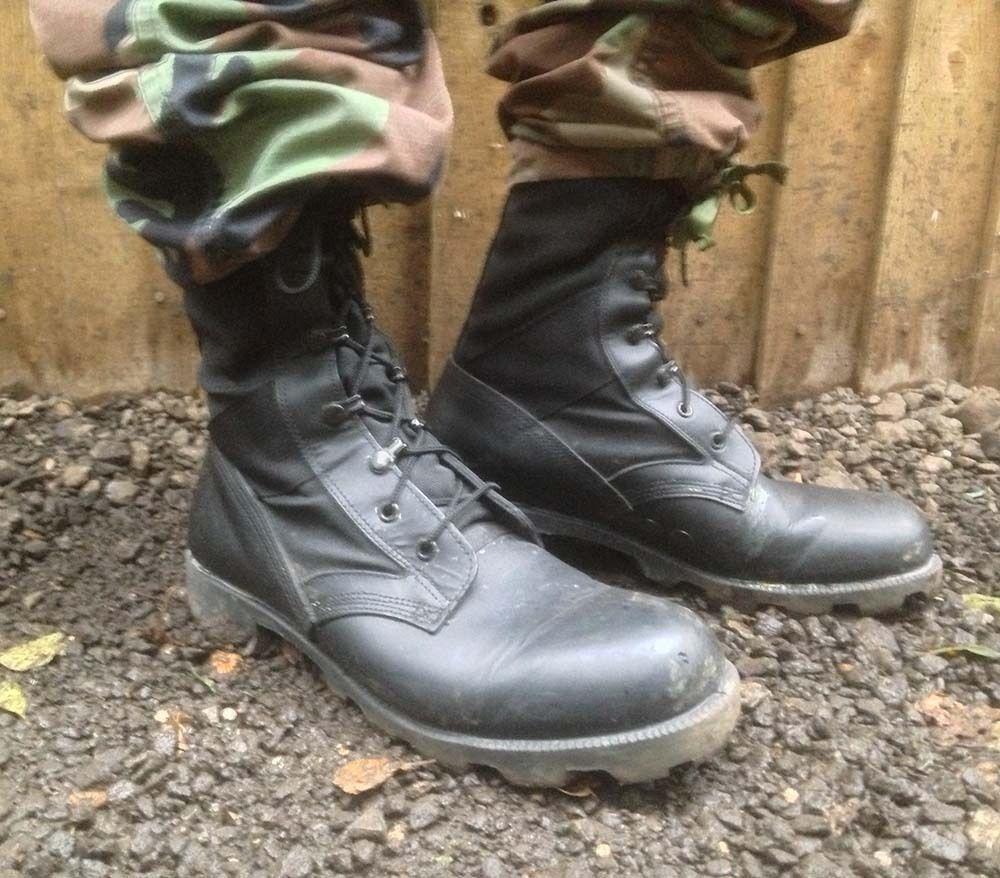 e8f1e588a17 Details about UK BRITISH ARMY SURPLUS BLACK WELLCO JUNGLE COMBAT ...
