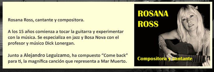 Compositora y cantante de Come Back, la canción original para Mar Muerto