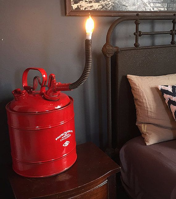 Light Fixtures Chicago: Vintage Chicago Gas Can Lamp By TheAlleyExchangeLA On Etsy