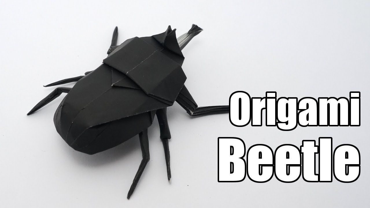 Origami Beetle Jo Nakashima Tutorial Diagrams And Close Dragon Instructions Diagram Captioning I Made One First Attempt Find It My Crafts Board