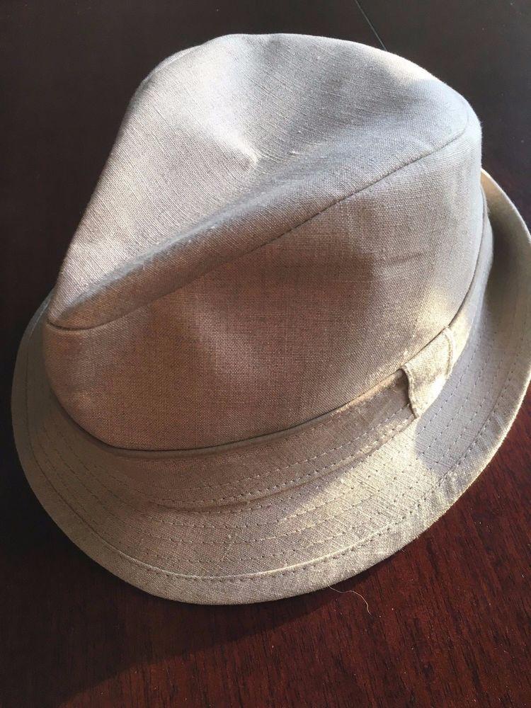 b3a2cecfa57b1 BANANA REPUBLIC Fedora Hat Beige Size Small Medium Vintage  BananaRepublic   FedoraTrilby  ebay