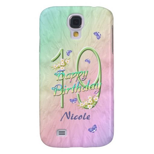 19th Birthday Rainbow Garden 3G Samsung Galaxy S4 Cover