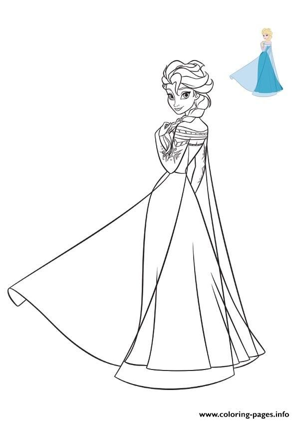 Print Elsa Frozen 2019 Dress Disney Coloring Pages In 2020 Disney Coloring Pages Disney Princess Coloring Pages Princess Coloring Pages