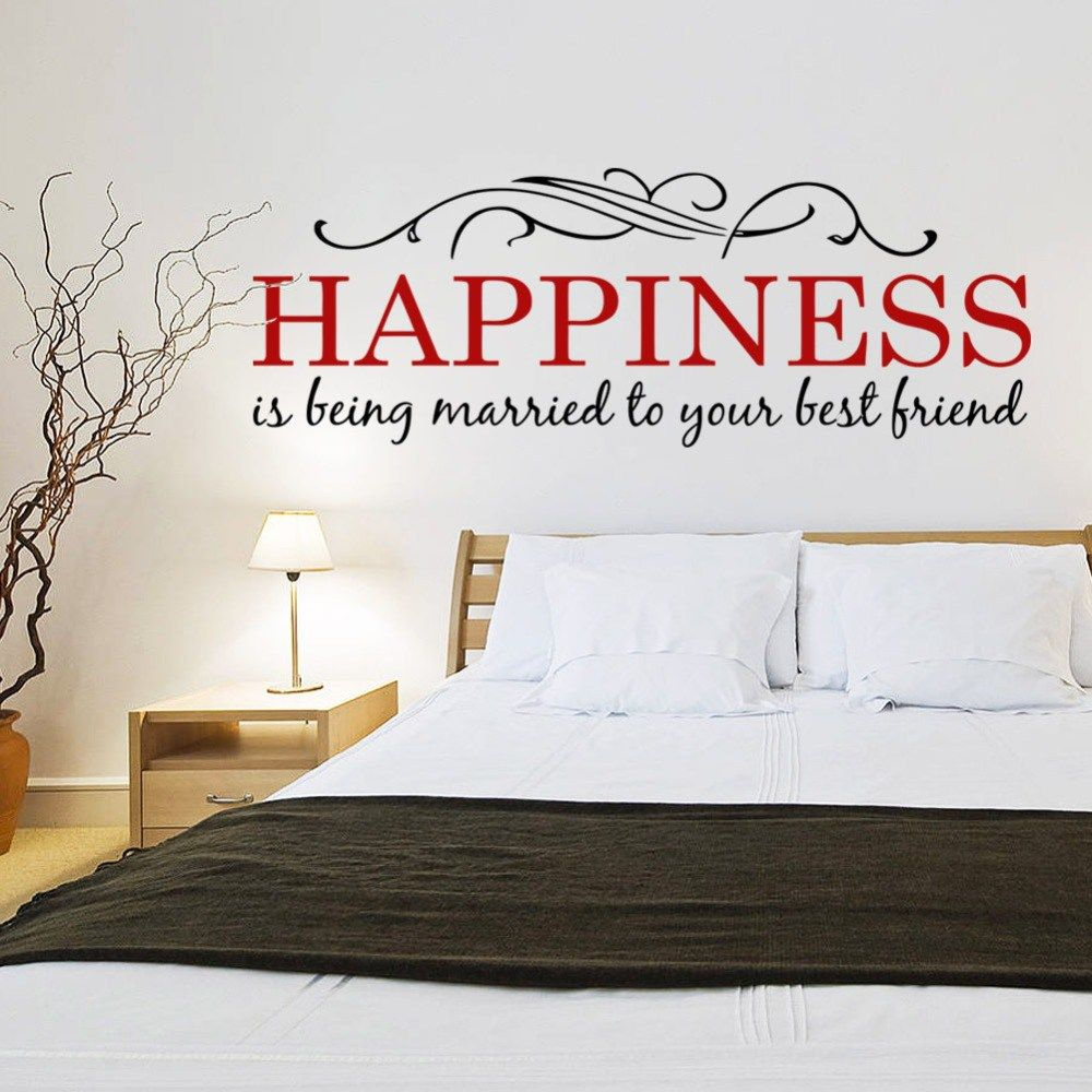 Quotes Headboard Bedroom Wall Stickers Home Decor Quote Wall