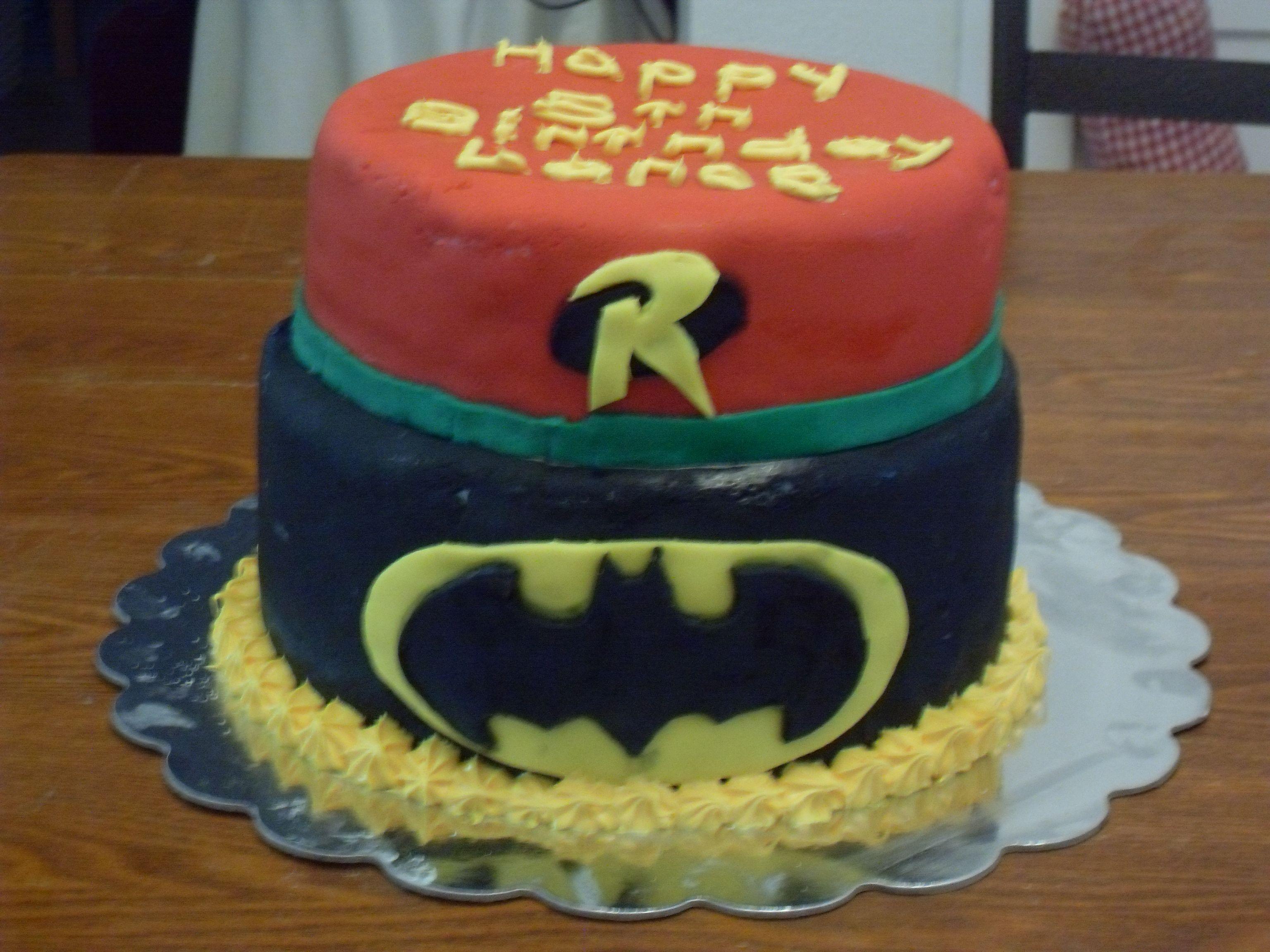 Batman And Robin Birthday Cake Shandas Sweet Treats And Crafty