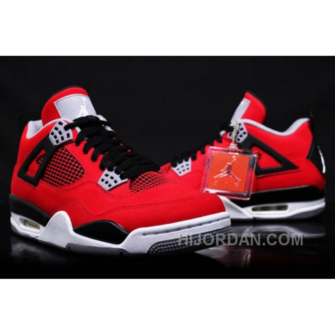 308497-603 Air Jordan Retro 4 Toro Bravo Fire Red/White-Black-Cement Grey  (Women Men) Free Shipping MSkRN | Queen? | Pinterest | Air jordan, Michael  jordan ...