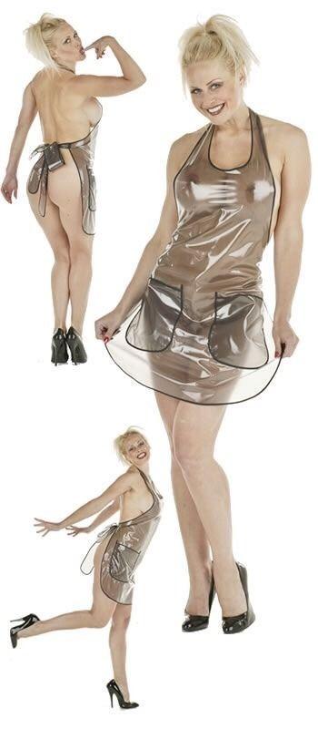 vinyl apron Sexy