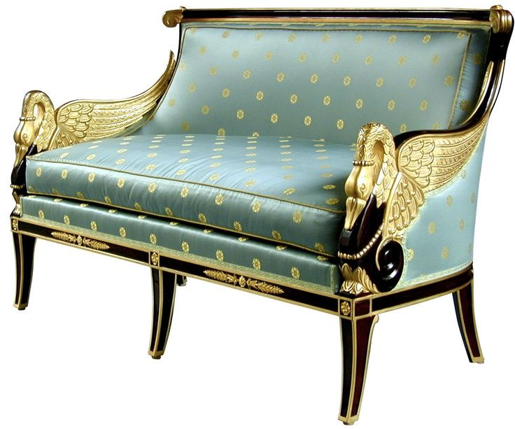 French empire sofa re upholstored antique en 2018 pinterest muebles furniture muebles y - Sofa mecedora ...