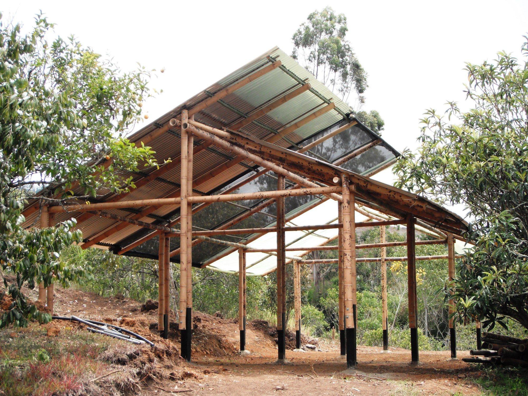 Estructura en bamb guadua para vivero multifuncional for Vivero estructura