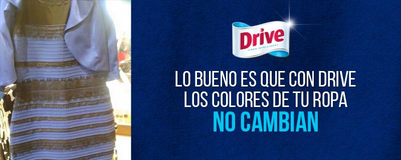 Con Drive los colores de tu ropa no cambian #TheDress