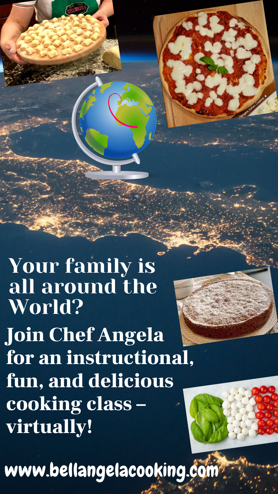 Virtual Live Cooking Classes Let Chef Angela Bring Italianity Into Your Home Cooking Classes Cooking Chef