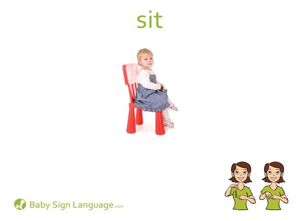 picture relating to Baby Sign Language Flash Cards Printable identified as Sit indicator language Indicator language, Little one indication language
