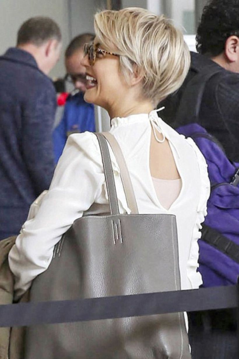 cool back view of undercut pixie haircut hairstyle ideas short